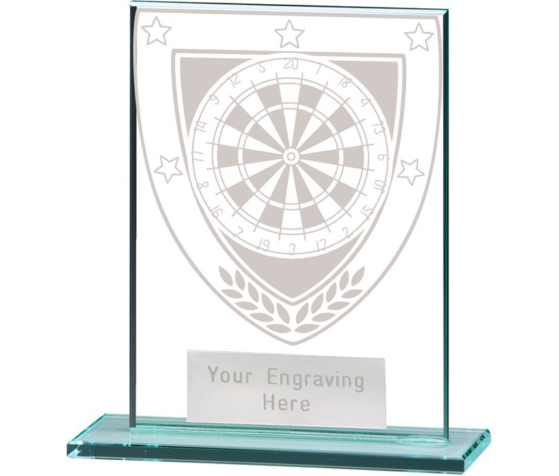 "Millennium Darts Jade Glass Award 11cm (4.75"")"