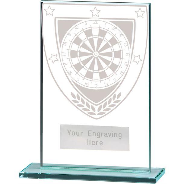 "Millennium Darts Jade Glass Award 12.5cm (5"")"