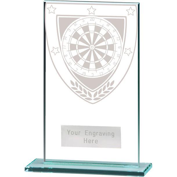 "Millennium Darts Jade Glass Award 14cm (5.5"")"