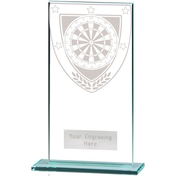 "Millennium Darts Jade Glass Award 16cm (6.25"")"