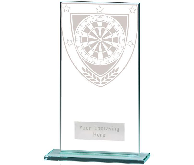 "Millennium Darts Jade Glass Award 16cm (6.25"")"