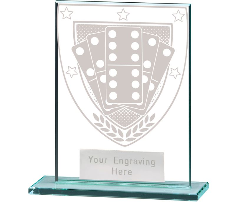 "Millennium Dominoes Jade Glass Award 11cm (4.75"")"