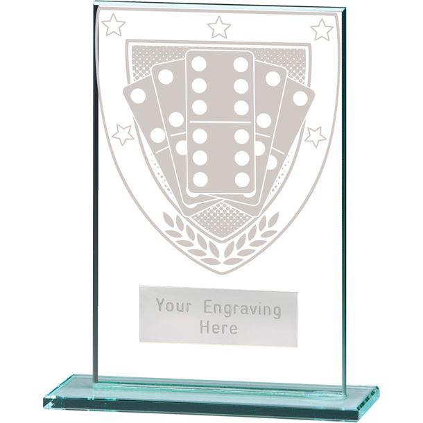 "Millennium Dominoes Jade Glass Award 12.5cm (5"")"