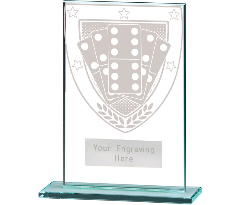 "Millennium Dominoes Jade Glass Award 12.5cm (5"")"