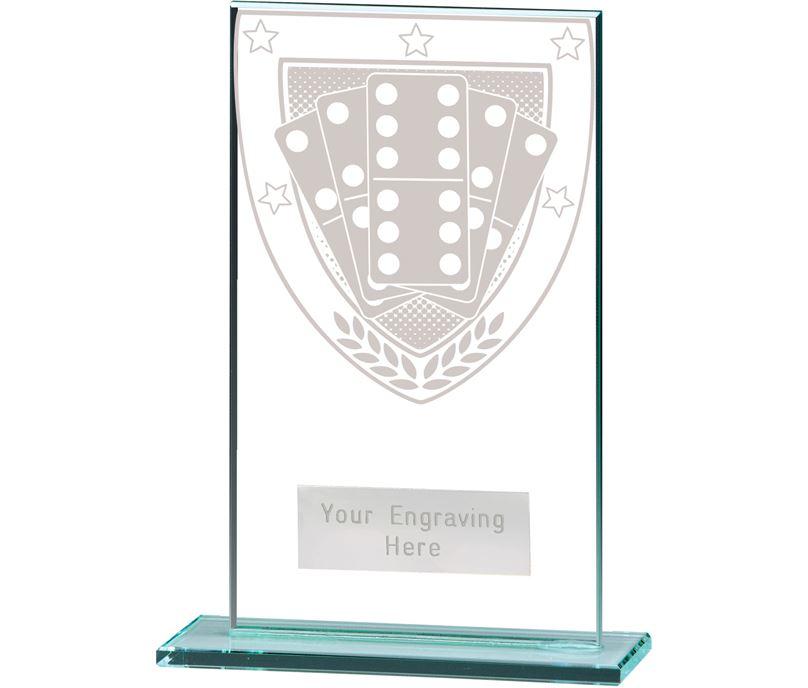 "Millennium Dominoes Jade Glass Award 14cm (5.5"")"