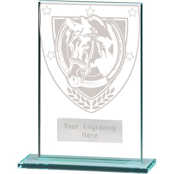 "Millennium Equestrian Jade Glass Award 12.5cm (5"")"