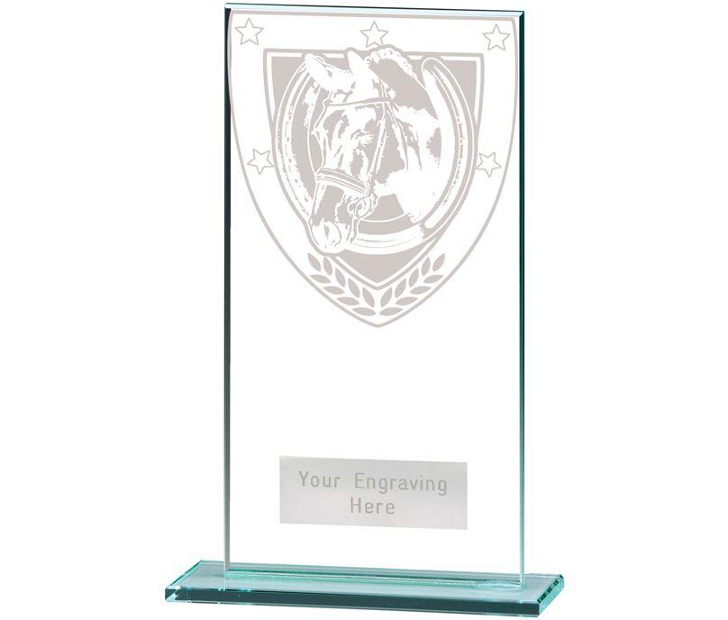 "Millennium Equestrian Jade Glass Award 16cm (6.25"")"