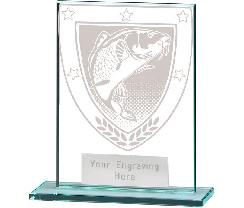 "Millennium Fishing Jade Glass Award 11cm (4.75"")"