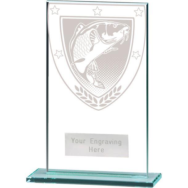 "Millennium Fishing Jade Glass Award 14cm (5.5"")"
