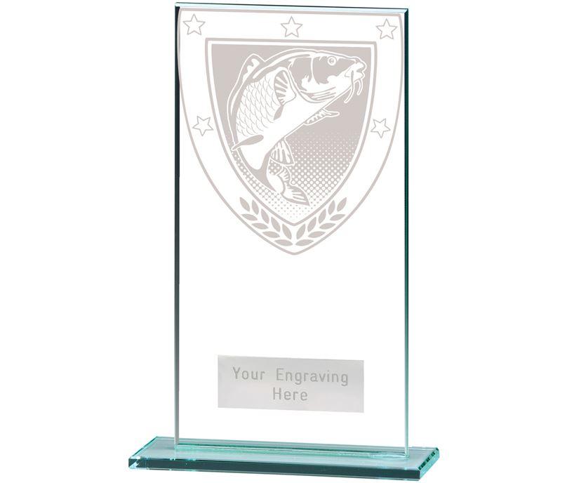 "Millennium Fishing Jade Glass Award 16cm (6.25"")"