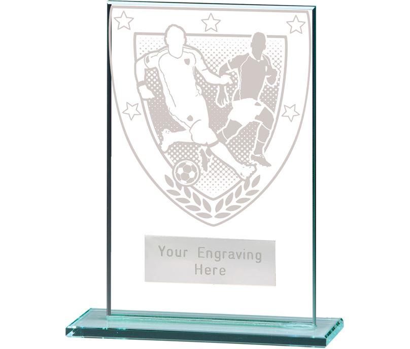 "Millennium Football Player Jade Glass Award 12.5cm (5"")"