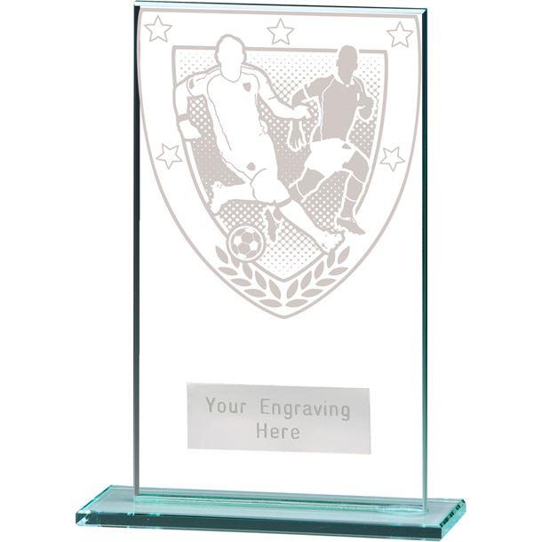 "Millennium Football Player Jade Glass Award 14cm (5.5"")"