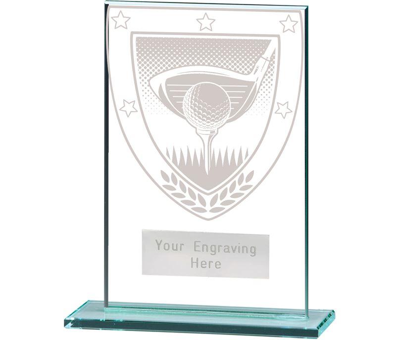 "Millennium Golf Jade Glass Award 12.5cm (5"")"