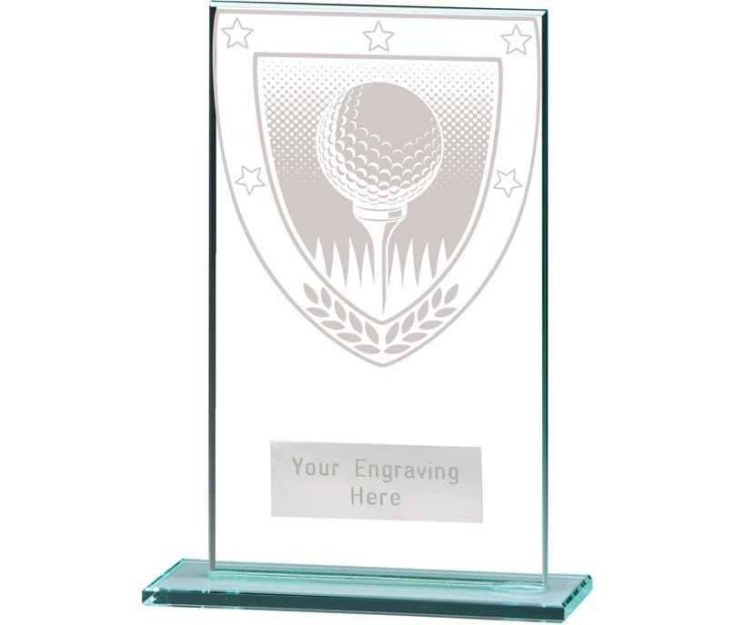 """Millennium Golf Ball Jade Glass Award 14cm (5.5"""")"""