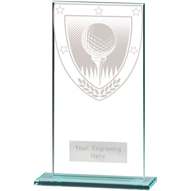 "Millennium Golf Ball Jade Glass Award 16cm (6.25"")"