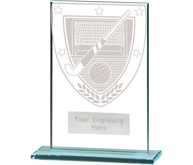 "Millennium Hockey Jade Glass Award 12.5cm (5"")"