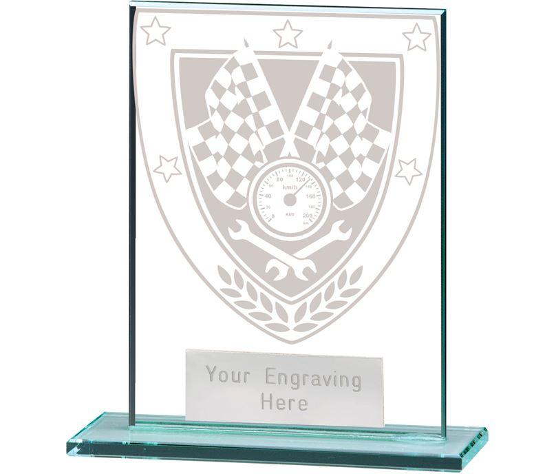 "Millennium Motorsport Jade Glass Award 11cm (4.75"")"