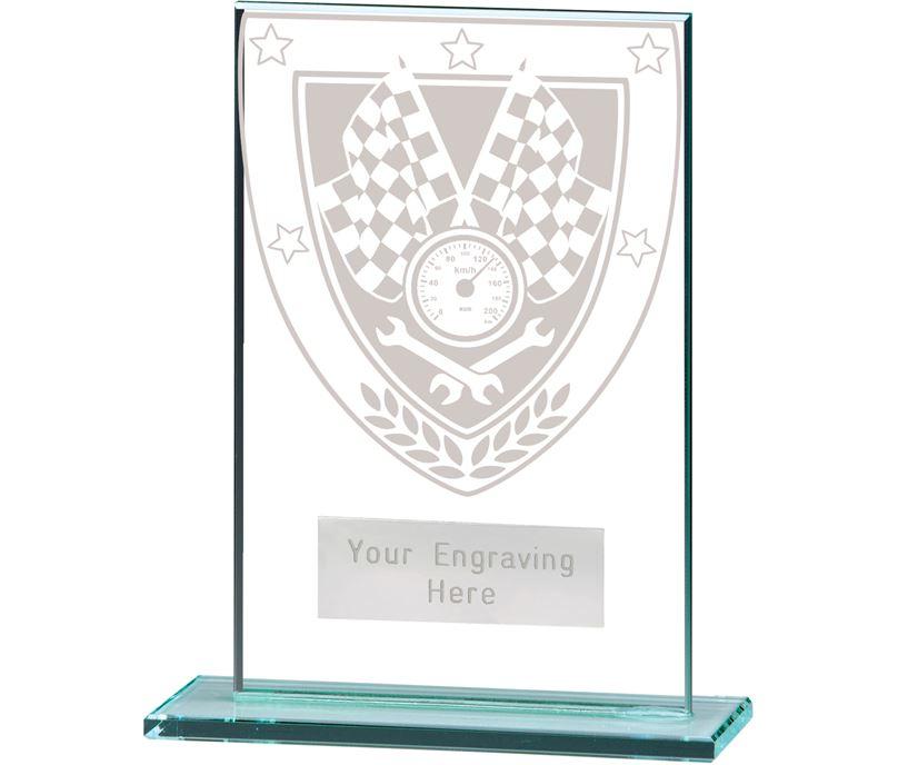 "Millennium Motorsport Jade Glass Award 12.5cm (5"")"