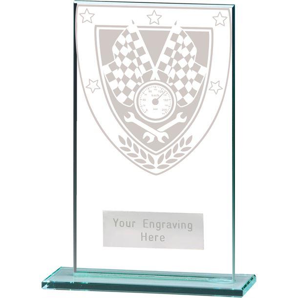 "Millennium Motorsport Jade Glass Award 14cm (5.5"")"