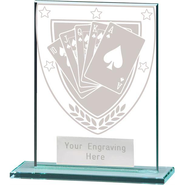 """Millennium Poker Jade Glass Award 11cm (4.75"""")"""