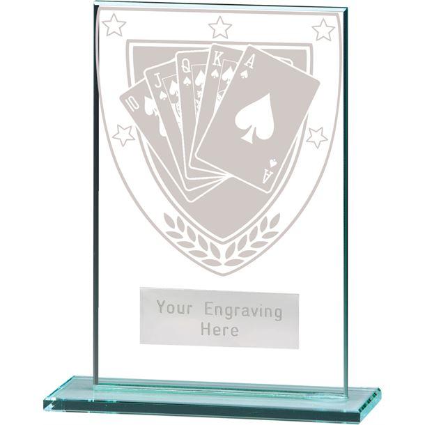 """Millennium Poker Jade Glass Award 12.5cm (5"""")"""