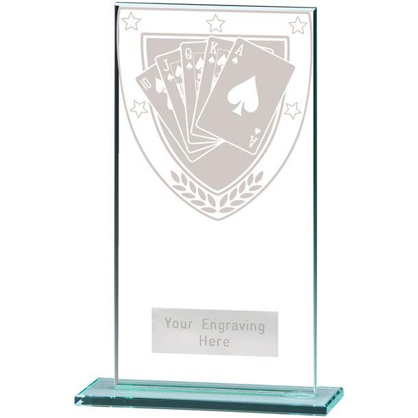 """Millennium Poker Jade Glass Award 16cm (6.25"""")"""