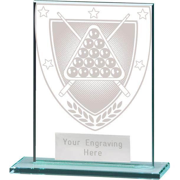 """Millennium Snooker Jade Glass Award 11cm (4.75"""")"""