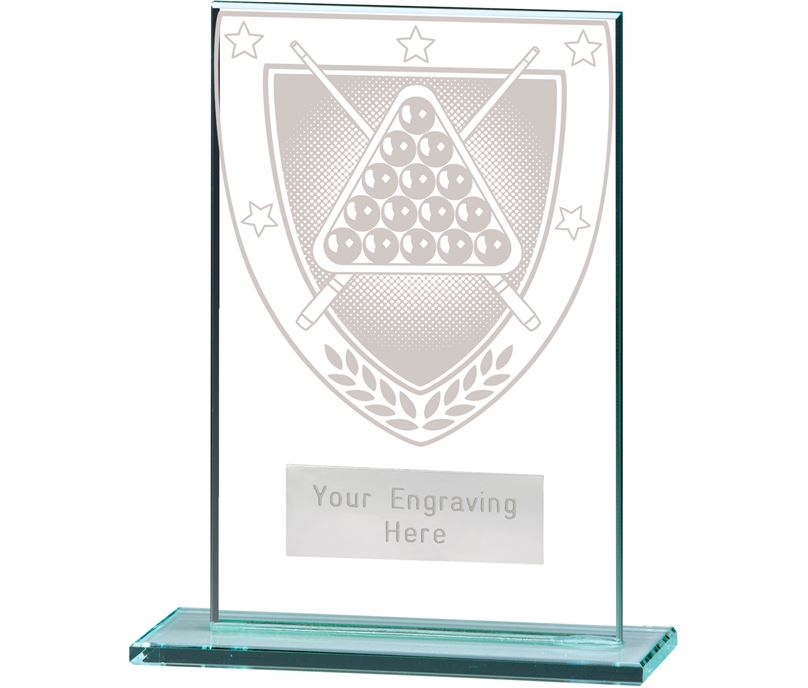 "Millennium Snooker Jade Glass Award 12.5cm (5"")"
