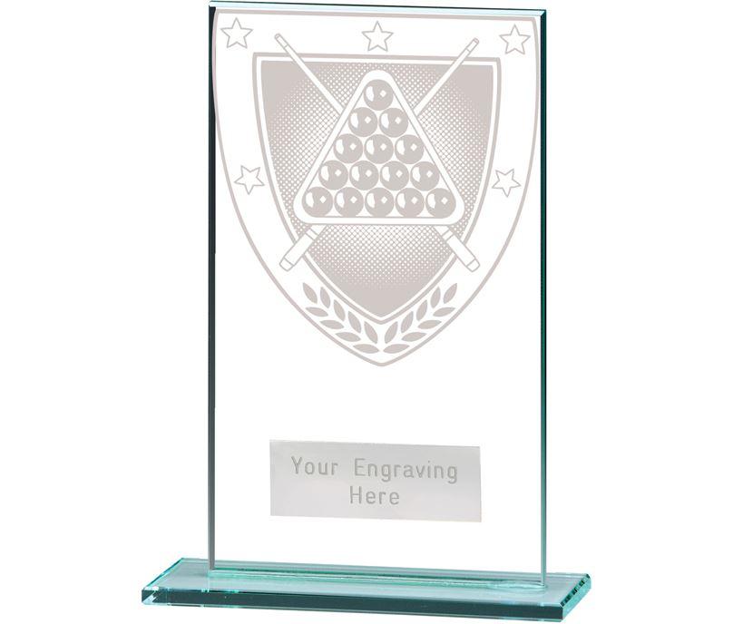 """Millennium Snooker Jade Glass Award 14cm (5.5"""")"""