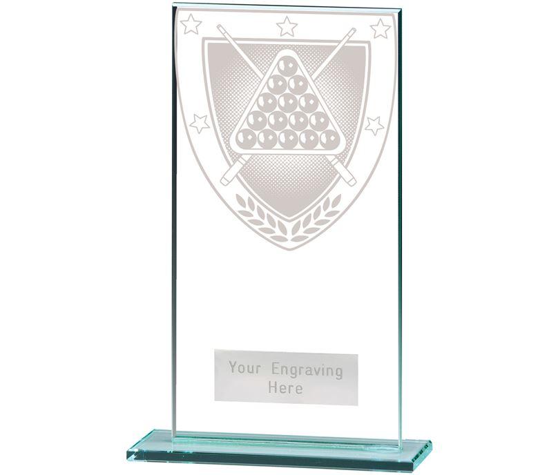 """Millennium Snooker Jade Glass Award 16cm (6.25"""")"""