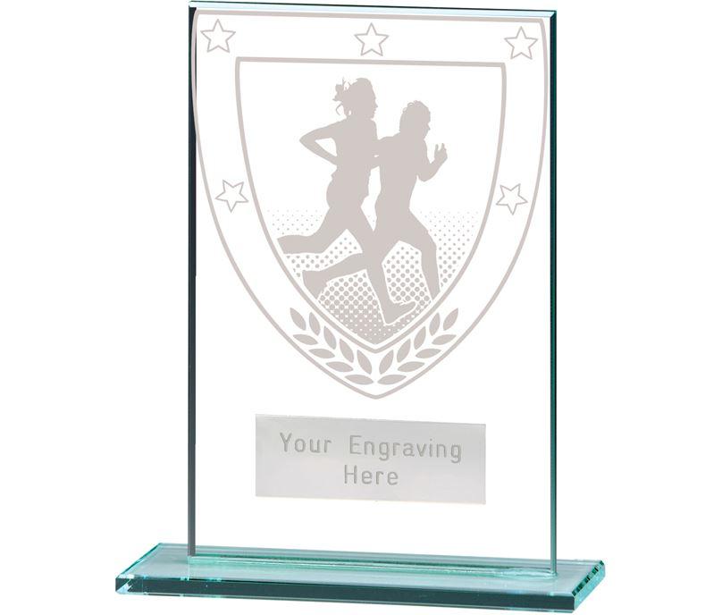 "Millennium Running Jade Glass Award 12.5cm (5"")"