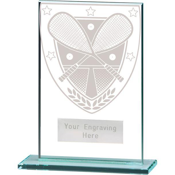"Millennium Squash Jade Glass Award 12.5cm (5"")"