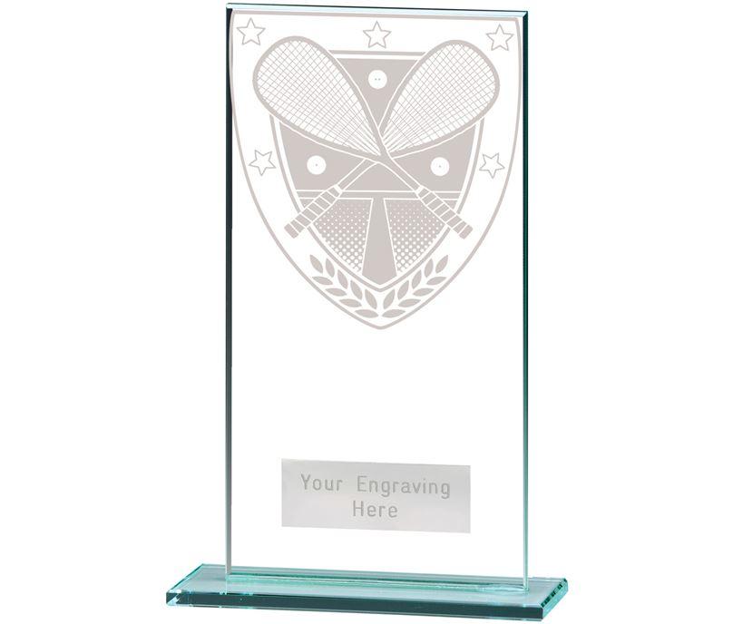 "Millennium Squash Jade Glass Award 16cm (6.25"")"