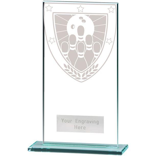 "Millennium Ten Pin Bowling Jade Award 16cm (6.25"")"