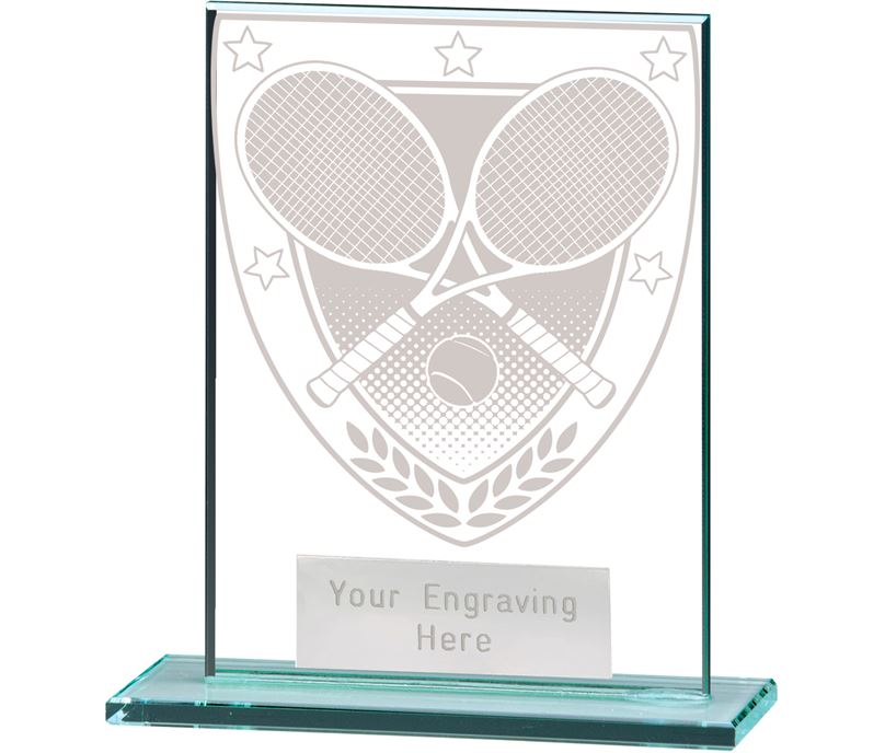 "Millennium Tennis Jade Glass Award 11cm (4.75"")"