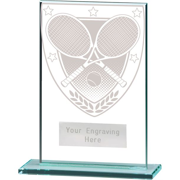 "Millennium Tennis Jade Glass Award 12.5cm (5"")"