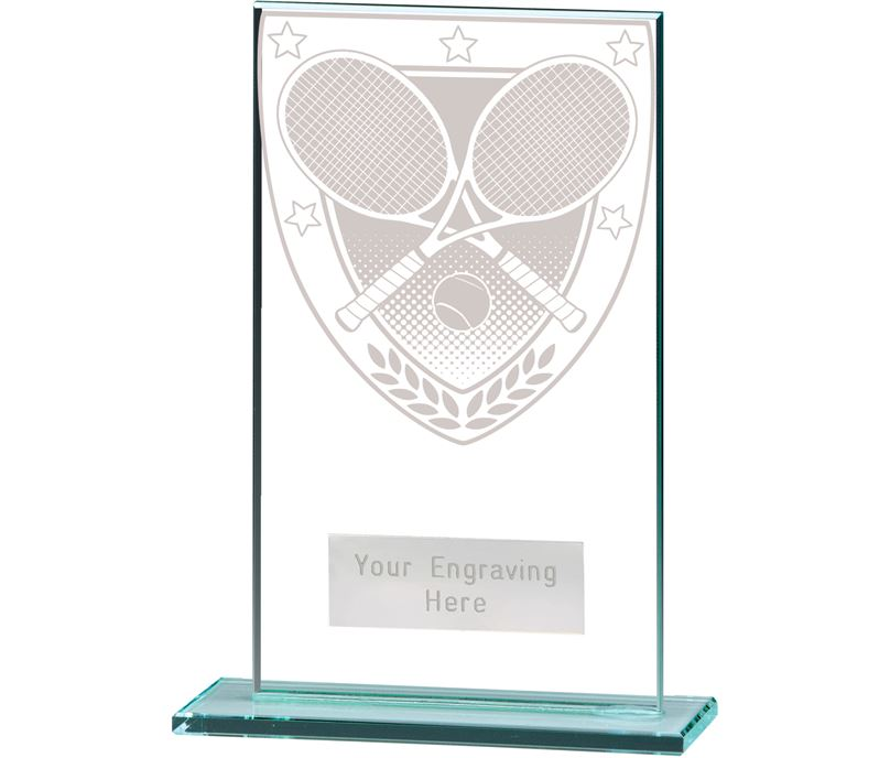 "Millennium Tennis Jade Glass Award 14cm (5.5"")"