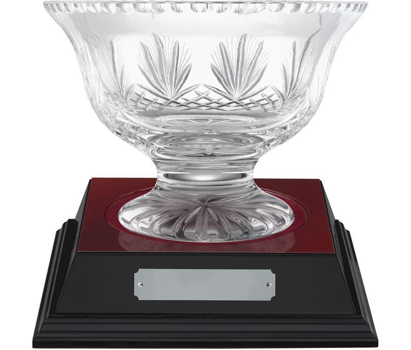 """Rushmore Cut Crystal Bowl & Rosewood Base 18.5cm (7.25"""")"""