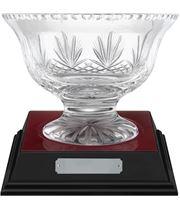 """Rushmore Cut Crystal Bowl & Rosewood Base 21cm (8.25"""")"""
