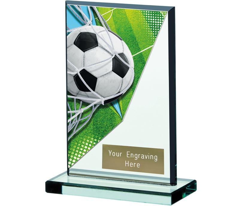 """Football Acrylic Glass Award 13cm (5.25"""")"""