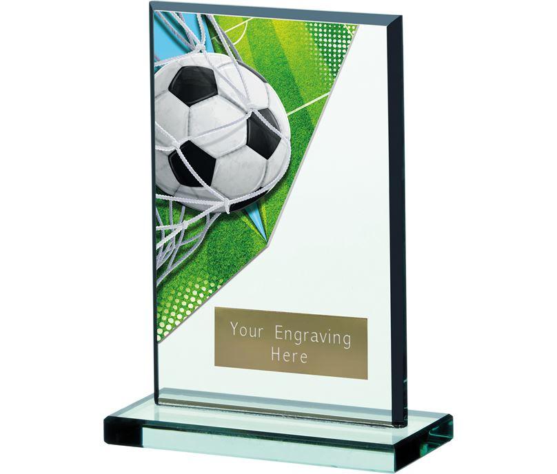 """Football Acrylic Glass Award 15cm (6"""")"""
