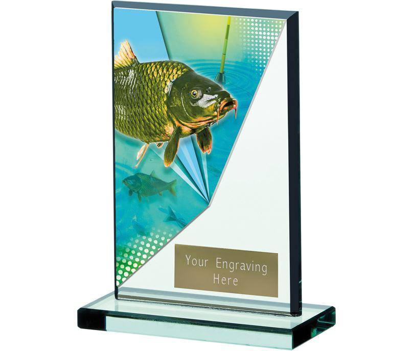 """Fishing Acrylic Award 13cm (5.25"""")"""