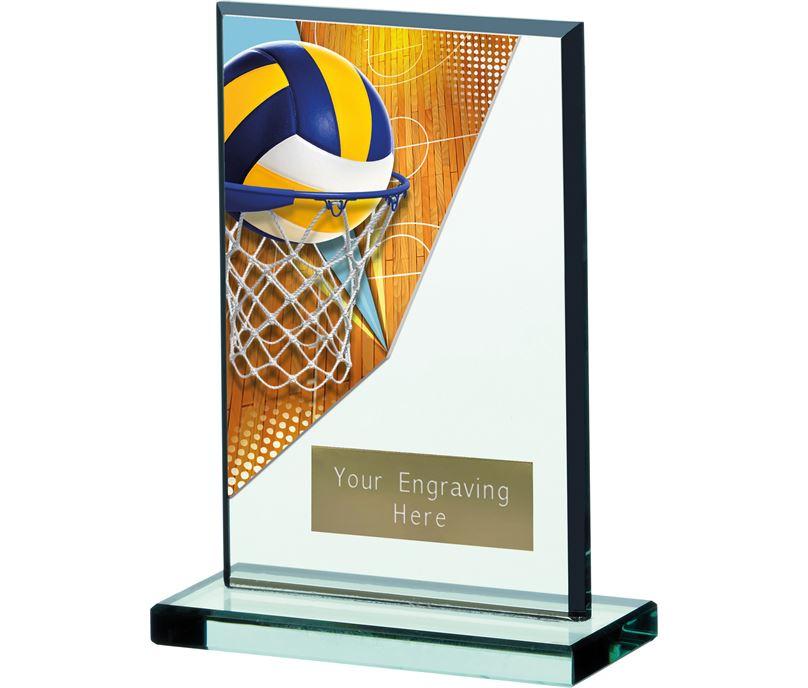 "Netball Acrylic Plaque 16cm (6"")"
