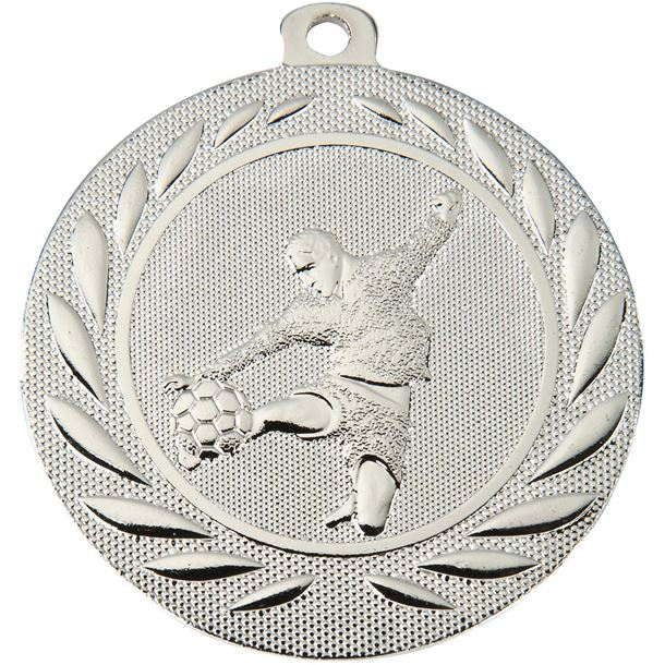 "Male Footballer Gallant Medal Silver 50mm (2"")"