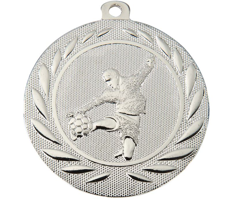 "Male Footballer Gallant Medal Silver 50mm (2"")"