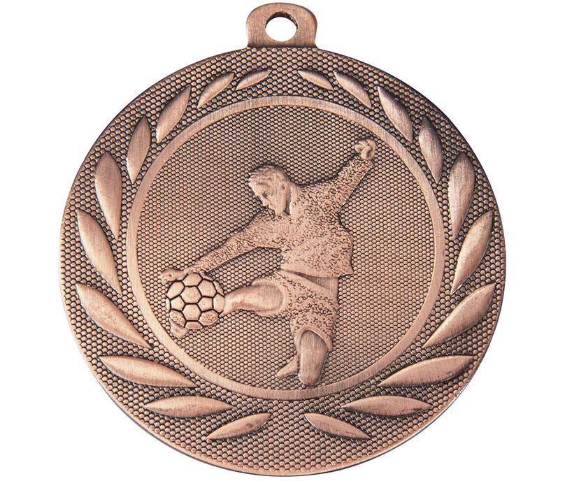 "Male Footballer Gallant Medal Bronze 50mm (2"")"