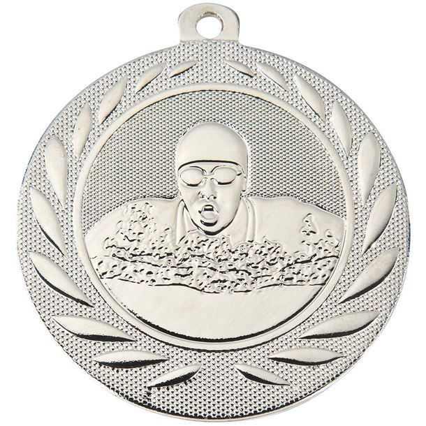 "Swimming Gallant Medal Silver 50mm (2"")"