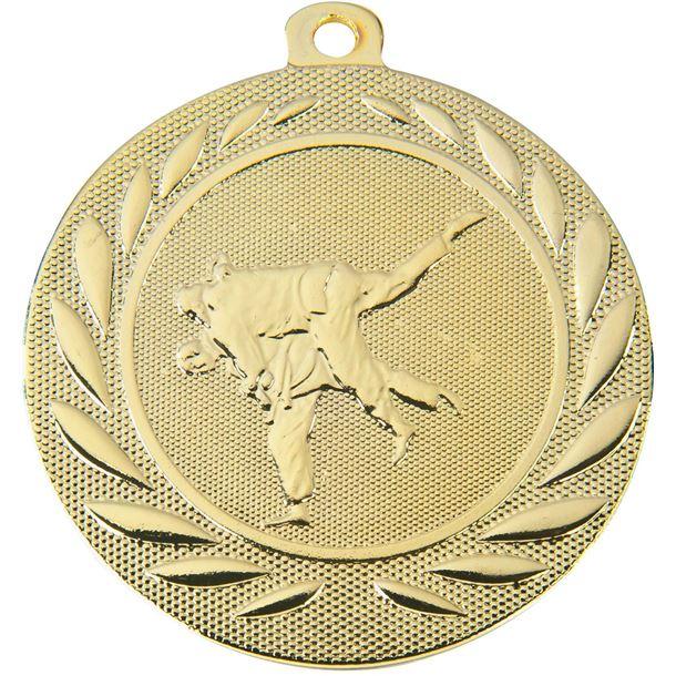 """Martial Arts Gallant Medal Gold 50mm (2"""")"""