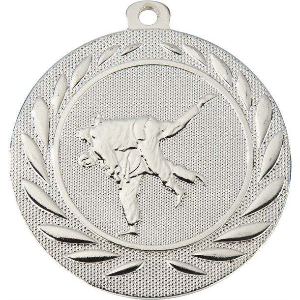 "Martial Arts Gallant Medal Silver 50mm (2"")"