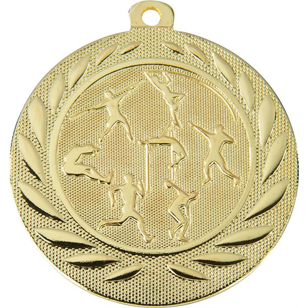 """Track & Field Gallant Medal Gold 50mm (2"""")"""